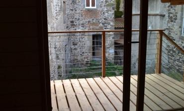 Installation baie vitrée et terrasse