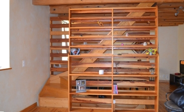 Création et installation escalier et bibliothèque